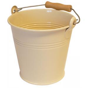 Zinken emmer 4 liter ivoor