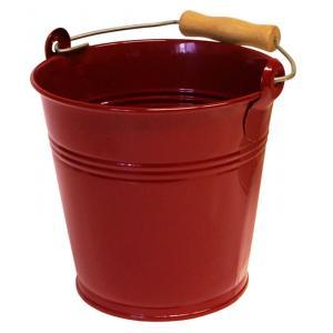 Zinken emmer 4 liter wijnrood