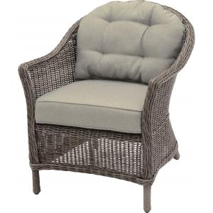 Wicker loungestoelen Salondi taupe set van 2