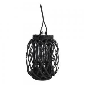 Houten windlicht Fohr zwart 23x30 cm