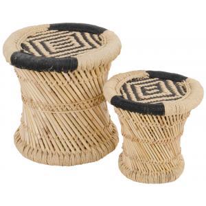 Korting Sumba bamboe bijzettafeltjes