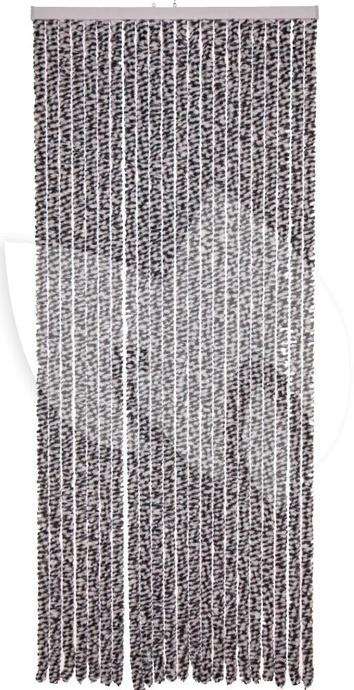 Express Kattenstaart gordijn antraciet-wit 90x220cm | Tuinexpress.nl