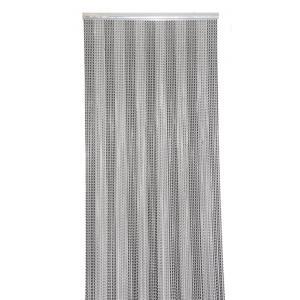Vliegengordijn alu Chain zwart/grijs 100x230cm