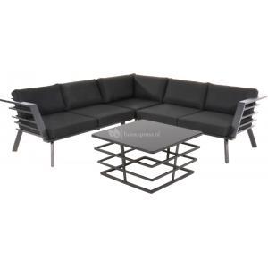 Regatta loungeset aluminium zwart