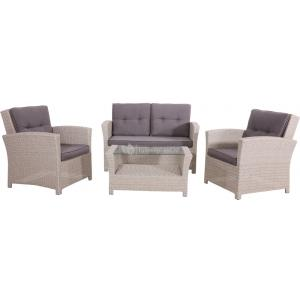 Supper Club Loungeset Jazz mixed white-grey wicker