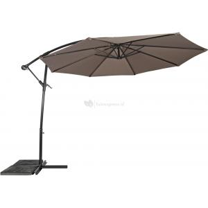 Outdoor Living Zweefparasol Gemini taupe �3mtr