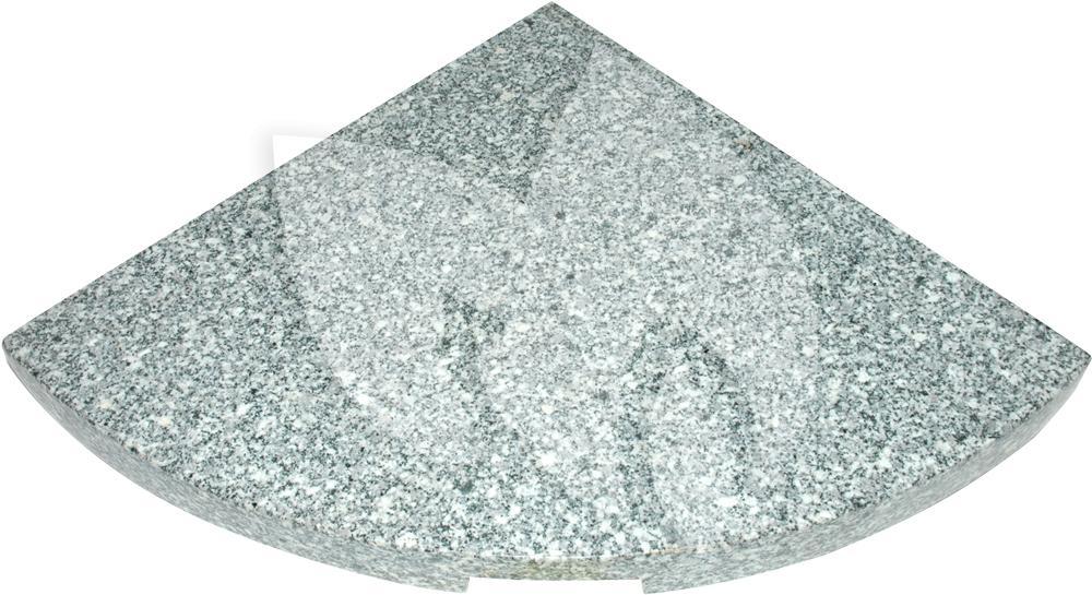 Zweefparasol Met Granieten Voet.Kruisvoet Graniettegel 25 Kg Grijs