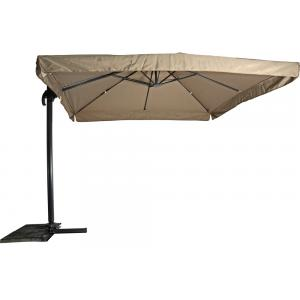 Outdoor Living Zweefparasol Virgo taupe 3x3mtr