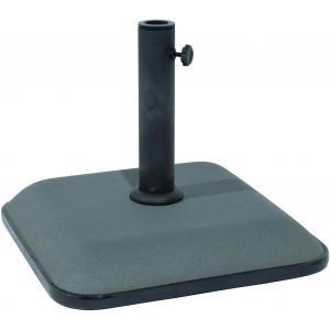 Parasolvoet beton vierkant 25 kg grijs