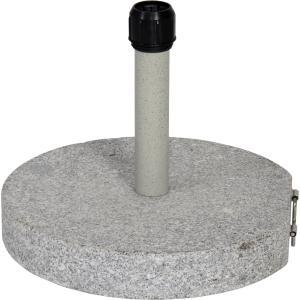 Dagaanbieding - Parasolvoet graniet rond grijs 30 kg dagelijkse aanbiedingen