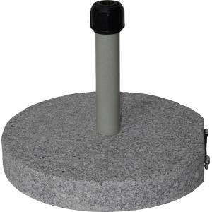 Parasolvoet graniet rond grijs 40 kg