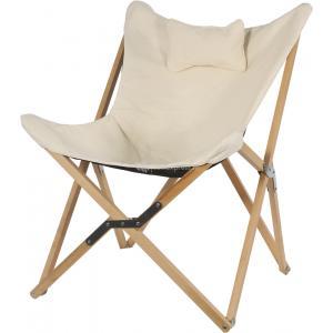 Korting Vlinderstoel hout crème