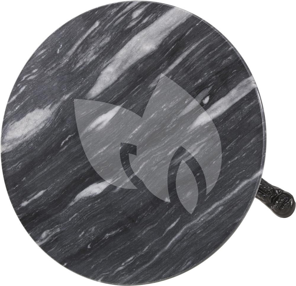 Marmer Tafelblad Rond.Terrastafel Rond Met Grijs Marmeren Blad