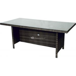 Supper Club Tafel Lugo stone grey wicker 180x90cm