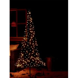 Fairybell licht kerstboom 185 cm 250 led warmwit met mast