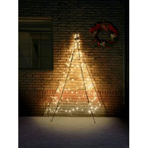 Fairybell muurkerstboom halfrond 200 cm 180 led warmwit