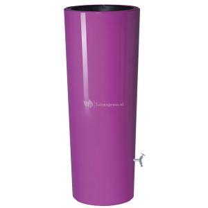 Garantia regenton met bloembak 350 liter paars