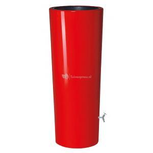 Garantia regenton met bloembak 350 liter rood