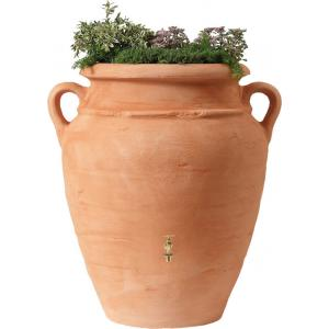 Garantia Amphore regenton met bloembak 360 liter terra