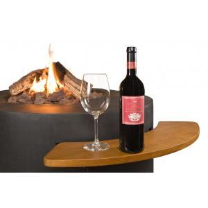 Cocoon houten side table voor vuurtafel ovaal/rond