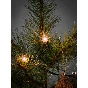 Korting Kerstboomverlichting met 20 vlamvormige kaarslampen