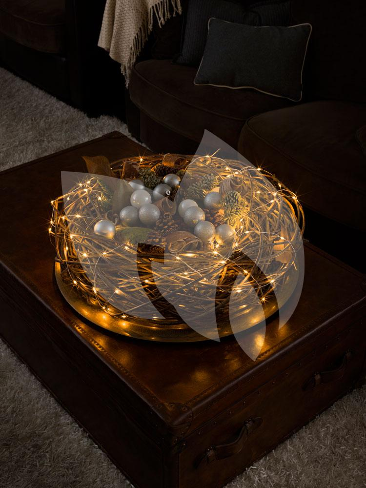 konstsmide micro led lichtdraad wit met 50 extra warm witte lampen. Black Bedroom Furniture Sets. Home Design Ideas