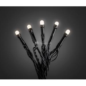 Micro LED lichtsnoer zwart met 200 warm witte lampen