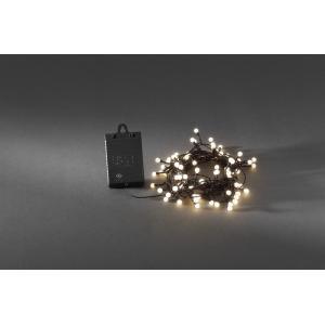 LED lichtsnoer cherry op batterijen 6.32 meter x 80 lampen