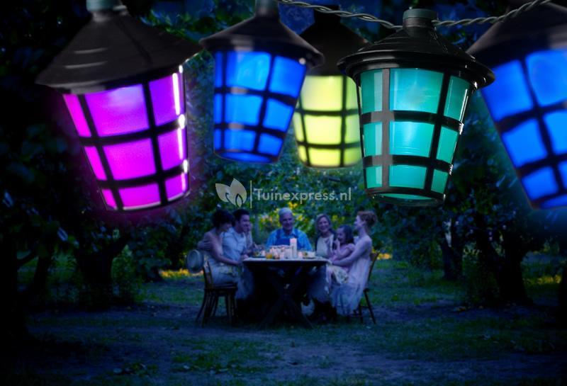 Party Verlichting Tuin : Konstsmide led feestverlichting met gekleurde lampionnen