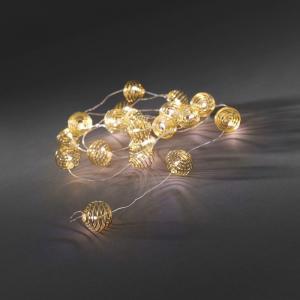 Korting LED deco lichtsnoer metaalballen goudkleurig