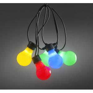 LED feestverlichting met multicolor opaal lampen