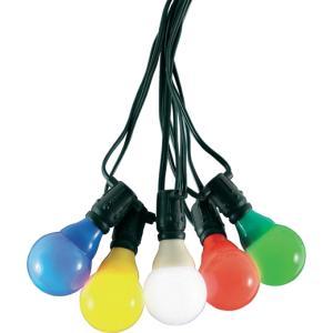 LED feestverlichting met gekleurde e14 kogellampen - 9.5 meter - 10 lampen