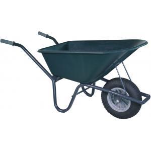 Kruiwagen gecoat 100 liter groen