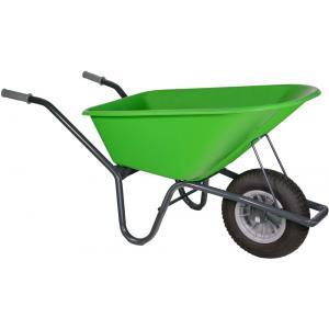 Kruiwagen gecoat 100 liter lime groen - Binnenband