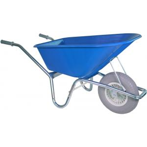 Kruiwagen verzinkt 100 liter blauw - Anti-lek band