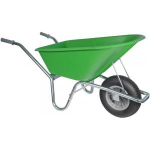 Kruiwagen verzinkt 100 liter lime groen