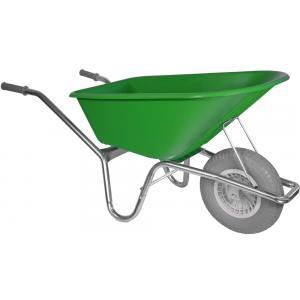 Korting Kruiwagen verzinkt 100 liter lime groen Anti lek band