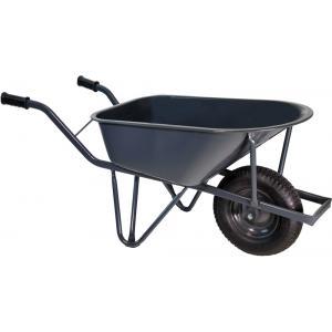 Bouwkruiwagen metaal met verzwaarde ovale buis 85 liter