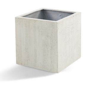 Korting Grigio plantenbak Cube S antiek wit betonlook