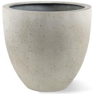 Korting Grigio plantenbak Egg Pot S antiek wit betonlook