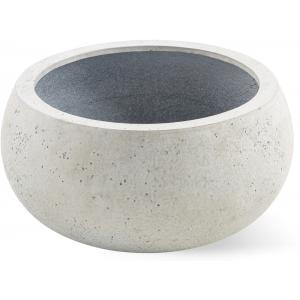 Grigio plantenbak Low Balloon S antiek wit betonlook