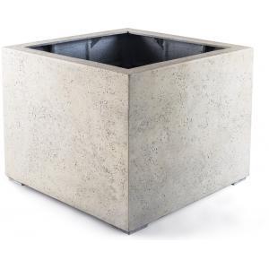 Dagaanbieding - Grigio plantenbak Low Cube L antiek wit betonlook dagelijkse aanbiedingen