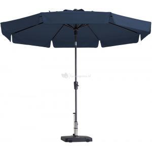 Dagaanbieding - Madison parasol Flores rond 300 cm blauw dagelijkse koopjes