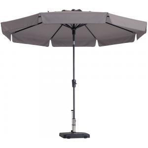 Dagaanbieding - Madison parasol Flores rond 300 cm taupe dagelijkse aanbiedingen