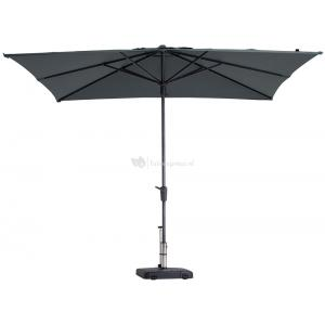 Madison parasol Syros Luxe vierkant 280 cm grijs