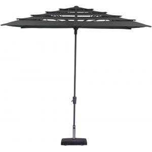 Madison parasol Syros Open Air vierkant 280 cm grijs