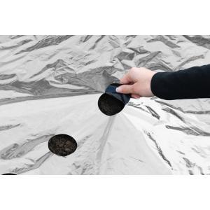 Kweekfolie universeel zilver/zwart 0.95 x 10 m
