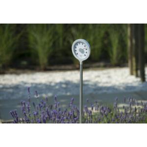 Lolly aluminium met grondpen buitenthermometer