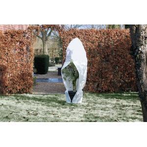 Winterafdekhoes met rits 70 g/m2 wit - 150 x 200 cm