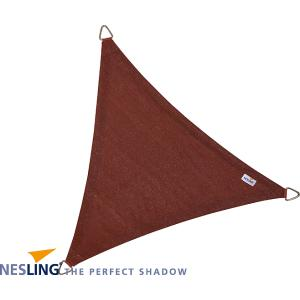 Korting Coolfit schaduwdoek driehoek terracotta 5.0 x 5.0 x 5.0 meter